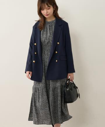 natural couture(ナチュラルクチュール) 前後2WAYボリューム袖プチハイワンピース