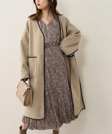 natural couture(ナチュラルクチュール) 【WEB限定カラー有り】前後2WAYカシュクールティアードワンピース