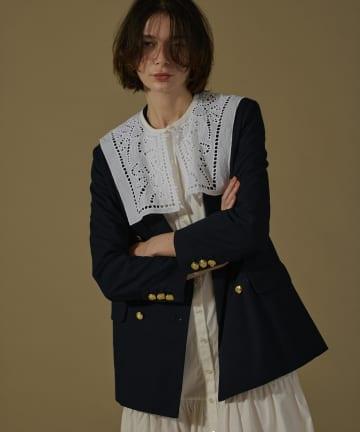 natural couture(ナチュラルクチュール) 【着用動画あり】おしゃれ金ボタンジャケット