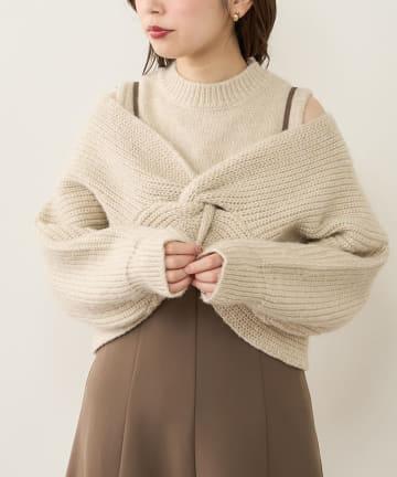 natural couture(ナチュラルクチュール) 【WEB限定】ほわほわクロスニットアンサンブル
