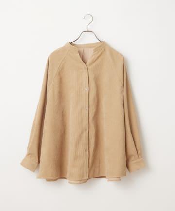 CIAOPANIC(チャオパニック) コーデュロイポンチョシャツ