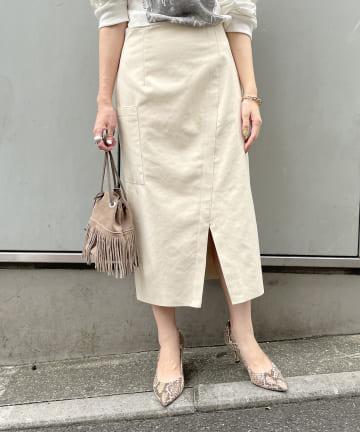 Loungedress(ラウンジドレス) エコスエードクロススカート