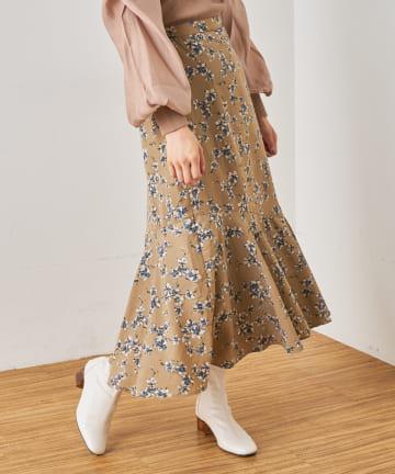 NICE CLAUP OUTLET(ナイスクラップ アウトレット) シフォンジョーゼットマーメイドスカート