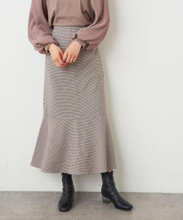 NICE CLAUP OUTLET(ナイスクラップ アウトレット) ガンクラブチェック 裾マーメイドSK