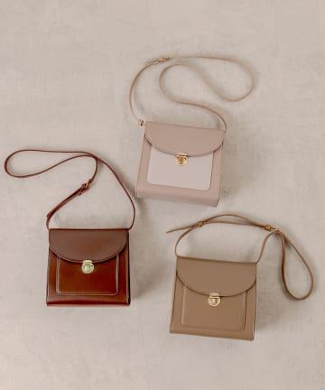OLIVE des OLIVE(オリーブ デ オリーブ) ポケット付きショルダーバッグ