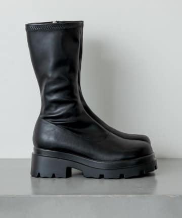 RASVOA(ラスボア) 厚底ストレッチミドルブーツ