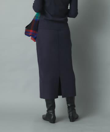RIVE DROITE(リヴドロワ) 【美しいシルエットが女性らしさを演出】総針ニットナロースカート
