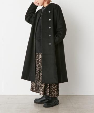 Omekashi(オメカシ) ノーカラーAラインコート