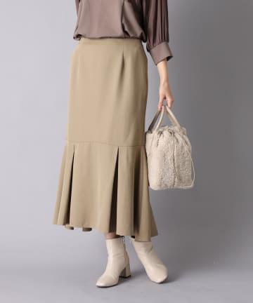 un dix cors(アンディコール) 《予約》【キレイなシルエットで魅了する】タックティアードスカート