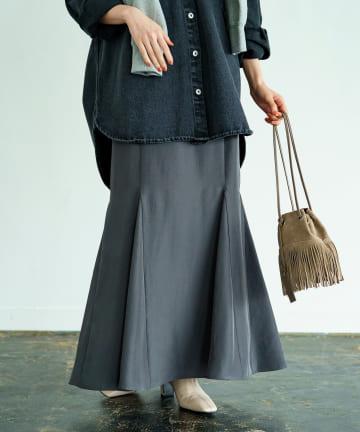 Loungedress(ラウンジドレス) マーメイドサテンスカート