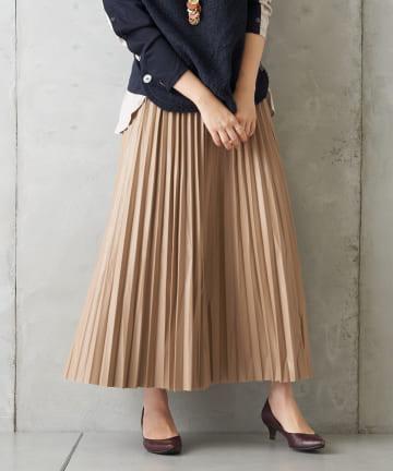 Pal collection(パルコレクション) 【予約】《今年注目アイテム》エコレザープリーツスカート