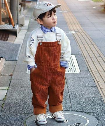 CIAOPANIC TYPY(チャオパニックティピー) 【KIDS】コーデュロイワイドサロペット