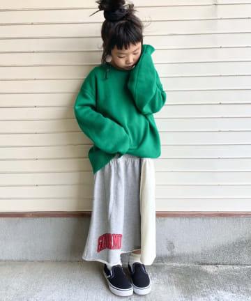 CIAOPANIC TYPY(チャオパニックティピー) 【KIDS】リメイク風キリカエスウェットスカート