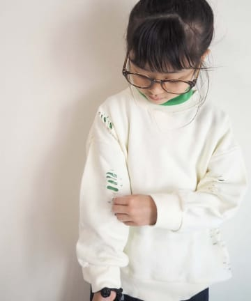 CIAOPANIC TYPY(チャオパニックティピー) 【KIDS】ダメージスウェットプルオーバー