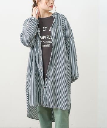 pual ce cin(ピュアルセシン) デニム刺繍×プリントワンピース