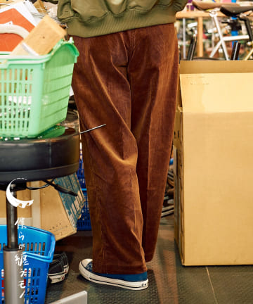 CIAOPANIC(チャオパニック) 【僕らが纏うモノ】at SAKULA - WIDE CORDUROY PANTS