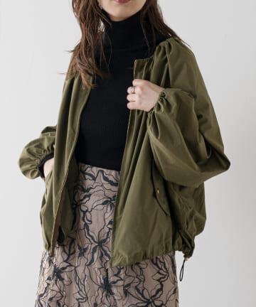 natural couture(ナチュラルクチュール) 【着用動画あり】ちょっとモードなたっぷりギャザーブルゾン
