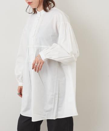 NICE CLAUP OUTLET(ナイスクラップ アウトレット) ピンタックチュニックシャツ