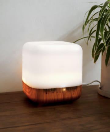 3COINS(スリーコインズ) アロマ対応LEDライト付き加湿器