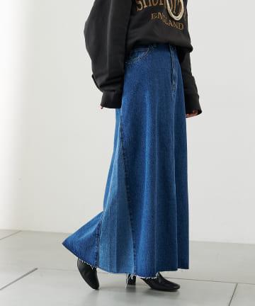 COLLAGE GALLARDAGALANTE(コラージュ ガリャルダガランテ) サイドカラーデニムスカート