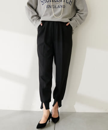 COLLAGE GALLARDAGALANTE(コラージュ ガリャルダガランテ) 裾スリットジョグパンツ