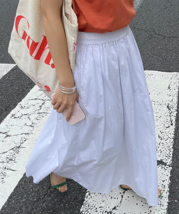 SHENERY(シーナリー) タックギャザーロングスカート