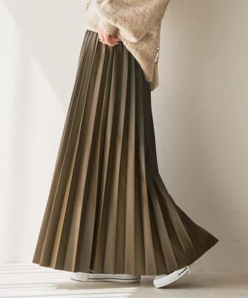 Discoat(ディスコート) フェイクレザープリーツスカート
