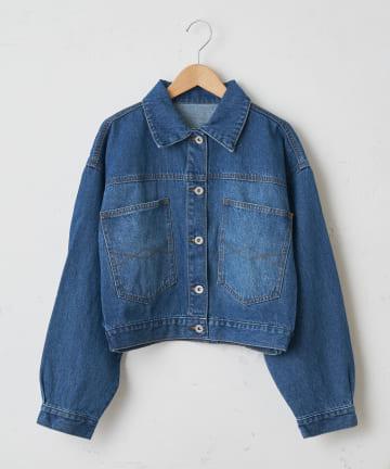 OLIVE des OLIVE OUTLET(オリーブ・デ・オリーブ アウトレット) 【dsf】Back button denim jacket
