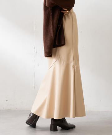 Discoat(ディスコート) フェイクレザーマーメイドスカート
