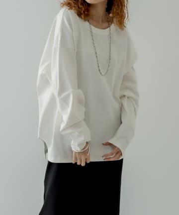 mystic(ミスティック) [BIGBILL]バックシャンルーズロングTシャツ
