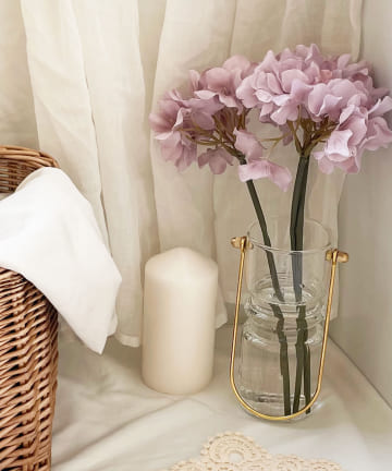 Lattice(ラティス) 取っ手のあるガラス花瓶