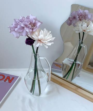 Lattice(ラティス) ポットみたいなガラスの花瓶