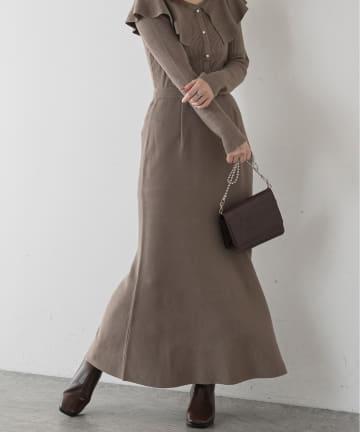 natural couture(ナチュラルクチュール) 【WEB限定】マーメイドニットスカート