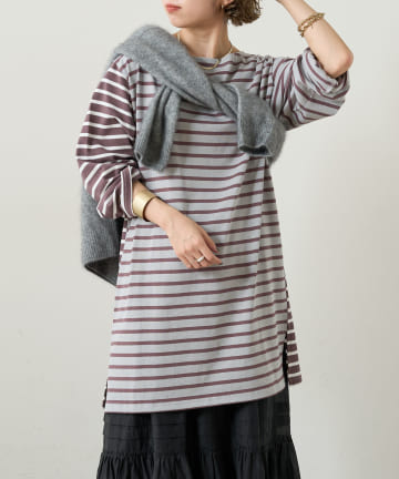 Omekashi(オメカシ) クレイジーパターンボーダーワンピース