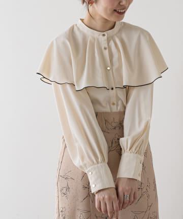 natural couture(ナチュラルクチュール) ひらりケープブラウス