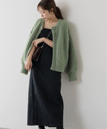 natural couture(ナチュラルクチュール) 【着用動画あり】ストレッチ2WAYジャンバースカート