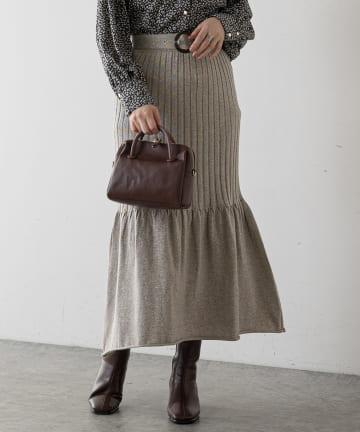 natural couture(ナチュラルクチュール) キラっとラメマーメイドスカート
