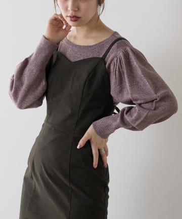 natural couture(ナチュラルクチュール) キラっとラメプルオーバー