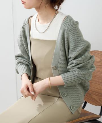 natural couture(ナチュラルクチュール) もちもちプチプラアイレットカーディガン