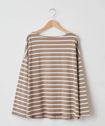 OLIVE des OLIVE OUTLET(オリーブ・デ・オリーブ アウトレット) Horizontal stripes boat neck L/S t-shirt