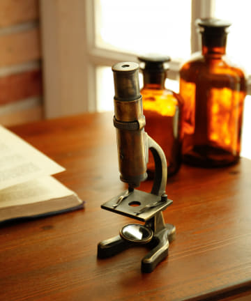 salut!(サリュ) 【Study Room Galileo】アンティーク顕微鏡オブジェ