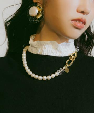 La boutique BonBon(ラブティックボンボン) 【COZスタイル・様々な変化・HUI】3WAY PEARL ネックレス