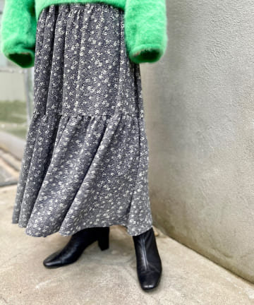 BEARDSLEY(ビアズリー) 《予約》小花ティアードスカート