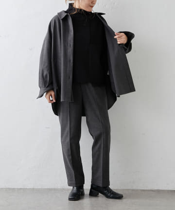 pual ce cin(ピュアルセシン) 【Du noir】パッチワーク風ハイネックニットプルオーバー