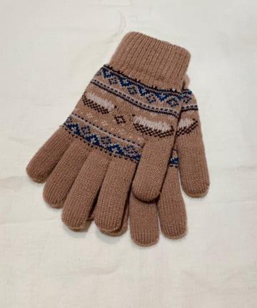 OLIVE des OLIVE OUTLET(オリーブ・デ・オリーブ アウトレット) ジャガード手袋