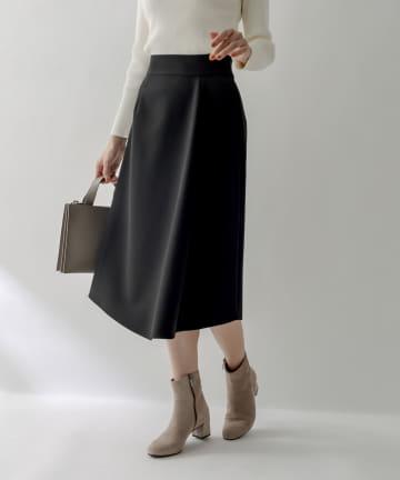 La boutique BonBon(ラブティックボンボン) 《予約》【シンプルながら目を惹くデザイン・手洗い可】アシメフレアスカート