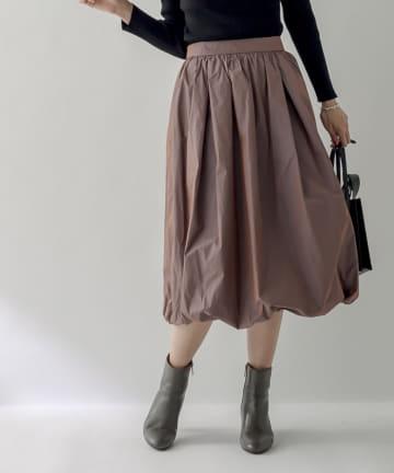 La boutique BonBon(ラブティックボンボン) 《予約》【大人ガーリー・手洗い可】メモリータフタバルーンスカート