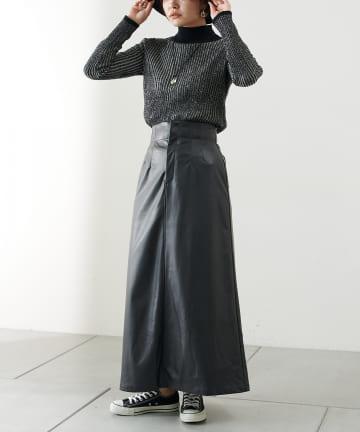 COLLAGE GALLARDAGALANTE(コラージュ ガリャルダガランテ) 【楽でおしゃれに!】レザースカート