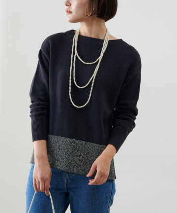 COLLAGE GALLARDAGALANTE(コラージュ ガリャルダガランテ) 裾ラメプルオーバー