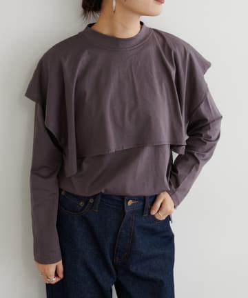 BONbazaar(ボンバザール) シルケットケープロングTシャツ